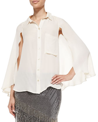 Silk Cape Blouse