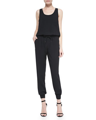 Mardalina Sleeveless Scoop-Neck Jumpsuit