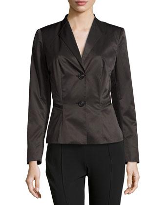 Corine Tech Fabric Jacket, Black