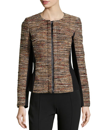 Bentley Tweed Combo Jacket, Black Multi