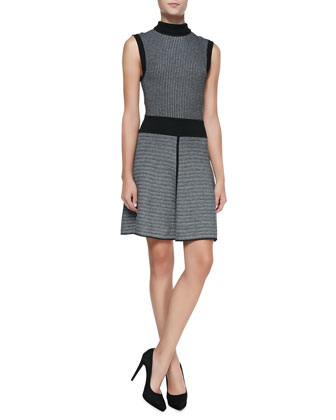 Matilda Mixed-Design Knit Dress