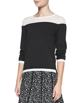Hannah Jersey Combo Top & Maggie Printed A-Line Skirt
