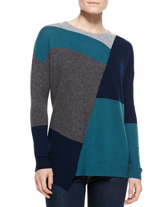 Campbell Extended-Hem Colorblock Sweater