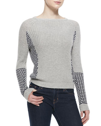 Chelsea Patterned/Ribbed Sweater