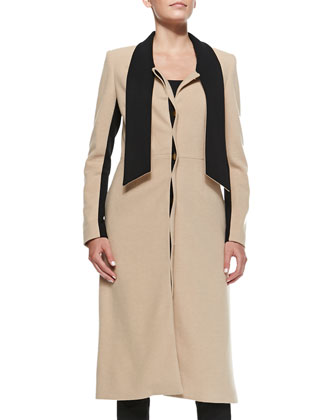 The Jabow Contrast-Inset Coat