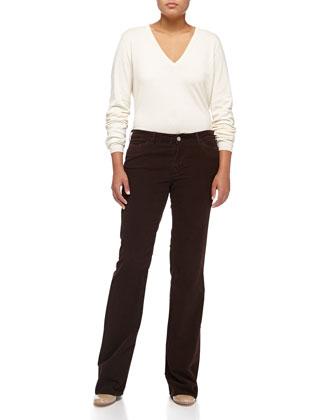 Stretch Corduroy Jeans, Dark Brown