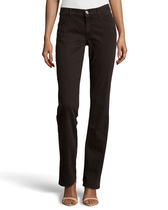 Straight-Leg Jeans, Medium Brown