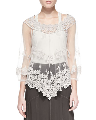 Pierrette Biltmore Lace Top, Women's