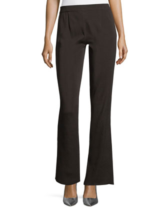 Casey Boot-Cut Pants, Black, Petite