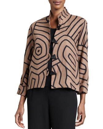 Graphic Suede Boxy Jacket, Women's