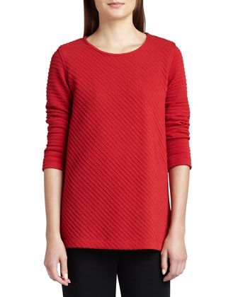 Ottoman Knit 3/4-Sleeve Tunic & Kinetic Slim Knit Pants, Women's