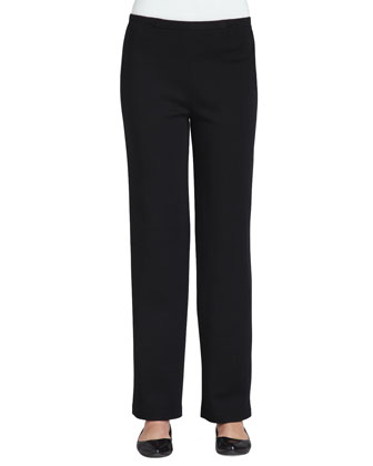 Flat Kinetic-Knit Pants, Petite