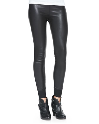 The Danny Leather Leggings, Black
