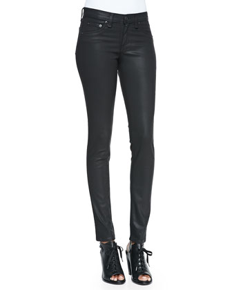 The Legging Jeans, Coated Black