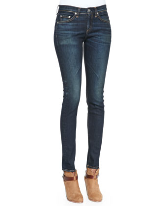 The Classic V-Neck Jersey Top & The High-Rise Chaucer Skinny Denim Jeans ...