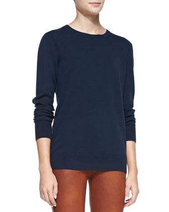 Natalie Knit Sweater, Navy