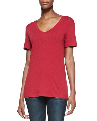 The Classic V-Neck Jersey Tee