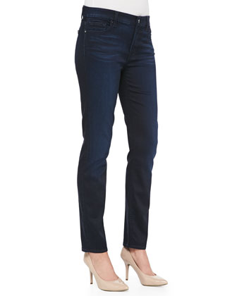 Skinny Denim Jeans, Blue/Black
