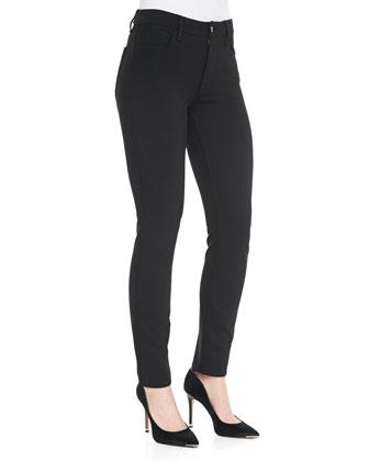 Ponte Skinny Jeans, Black