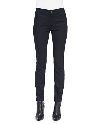 Lightweight Denim Leggings, Dark Indigo