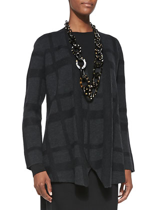 Plaid Felted Cascading Jacket, Women's