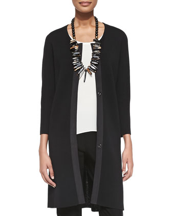 Washable Wool Long Snap Jacket, Sleeveless Long Silk Top & Washable ...