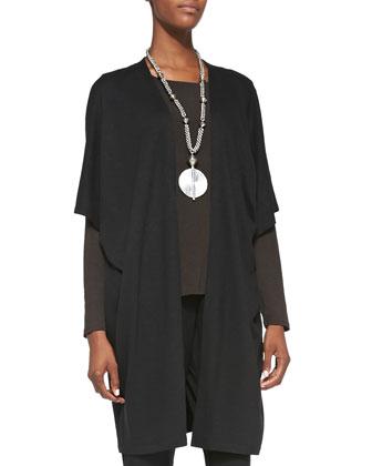 Aegean Long Kimono Jacket, Long-Sleeve Slim Jersey Tee & Slouchy Tapered ...