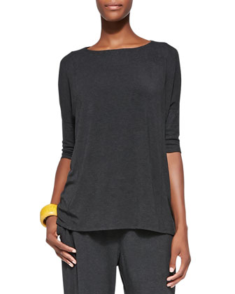 Cozy Half-Sleeve Boxy Top