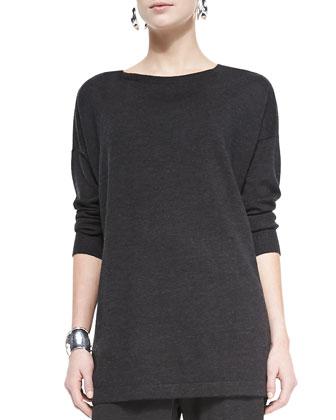 Merino Jersey Long Tunic, Women's