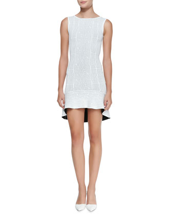 Faye Knit Flounce-Hem Dress
