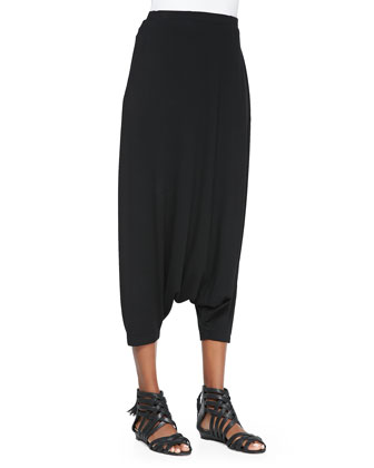 Lightweight Harem Pants, Black, Petite