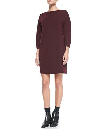 Satin-Back Sweaterdress