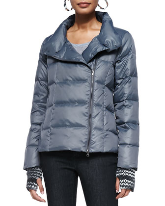 Puffer Two-Way Zip Jacket, Superfine Tee, Slim Stretch Ankle Jeans, ...