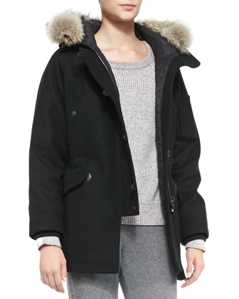 Waterloo Fur-Trim Quilted Parka