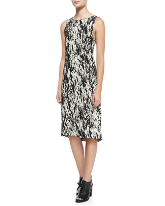 Gracie Printed Tweed Sleeveless Dress