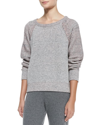 Addison Wool-Blend Raglan Pullover Sweater