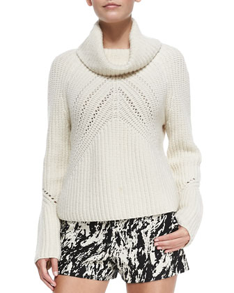 Cece Cowl-Neck Knit Sweater