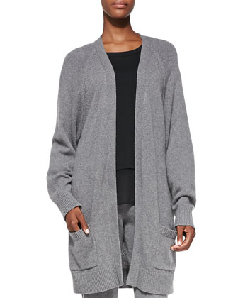 Charlize Oversize Knit Cardigan, Eden Long-Sleeve Layered Tee & Charlize ...