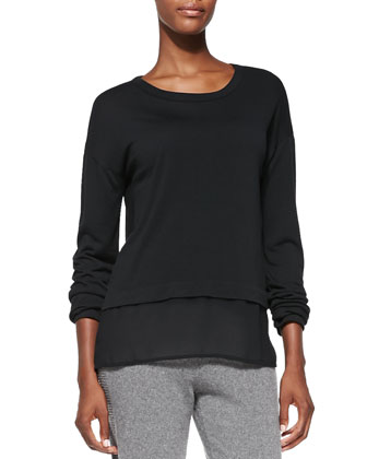 Eden Long-Sleeve Layered Tee