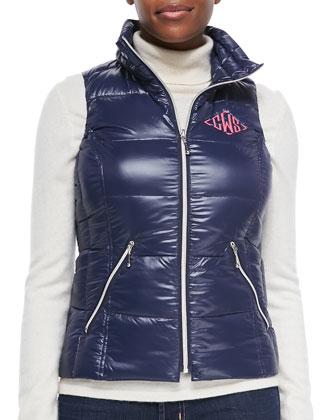 Monogram Zip-Front Puffer Vest