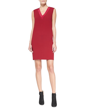 Sleeveless V-Neck Shift Dress