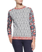 Ronnie Long-Sleeve Printed Pullover