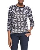 Tia Printed Wool Sweater