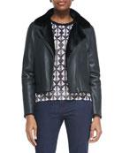 Caroline Lambskin/Shearling Jacket