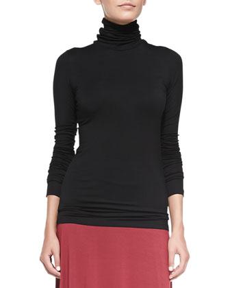 Basic Long-Sleeve Turtleneck & Mackenzie Jersey Maxi Skirt, Women's