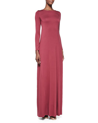 Stormy Long-Sleeve Maxi Dress