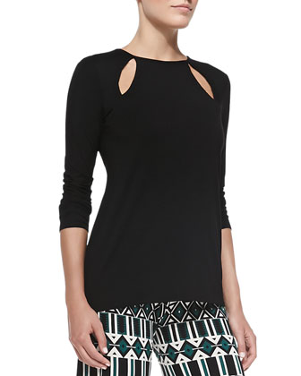Laney Jersey Cutout Top, Women's