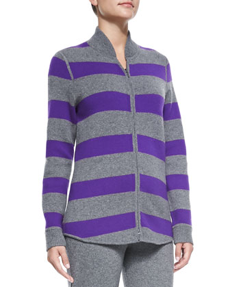 Cashmere Striped Reversible Sweater