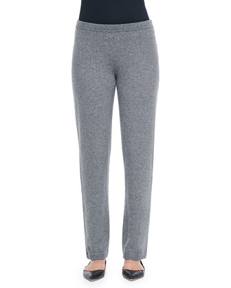 Cashmere-Blend Easy Straight-Leg Pants