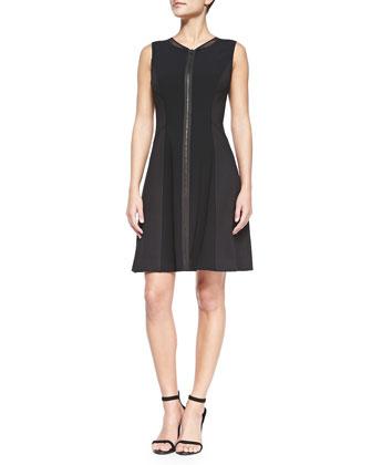 Tristen Zip-Front Dress